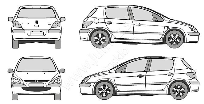 peugeot 307 3d  5d hatchback  5d kom 2001