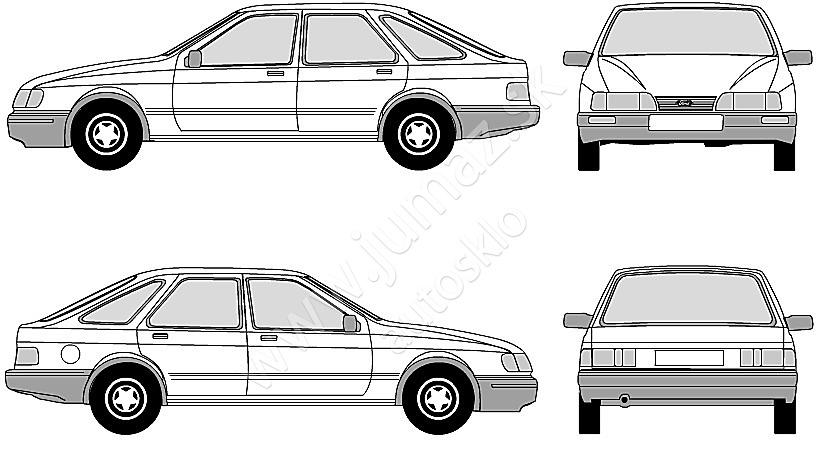 ford sierra ii 3d  5d hatchback  4d lim  5d kom 1987