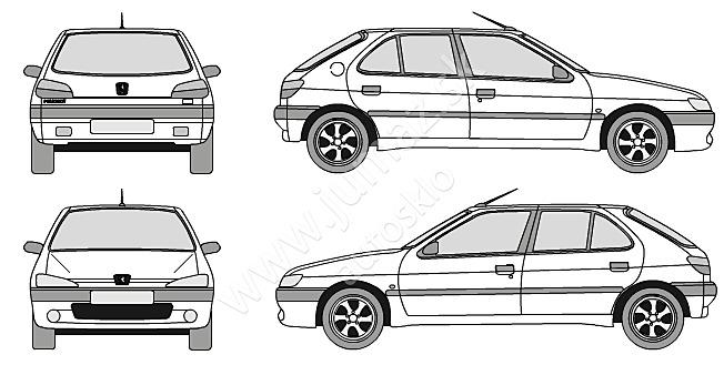 peugeot 306 3d  5d hatchback  4d lim  5d kom 1993
